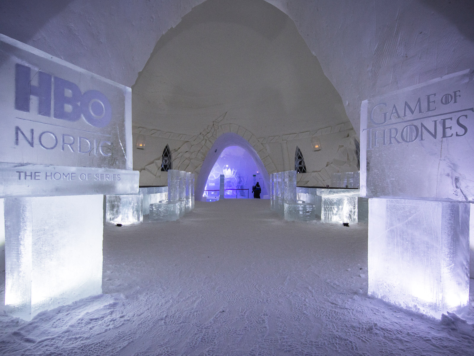 hbo game of thrones ice hotel