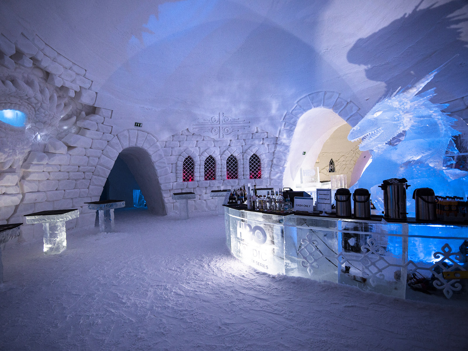 dragon bar of ice in hotel game of thrones themed