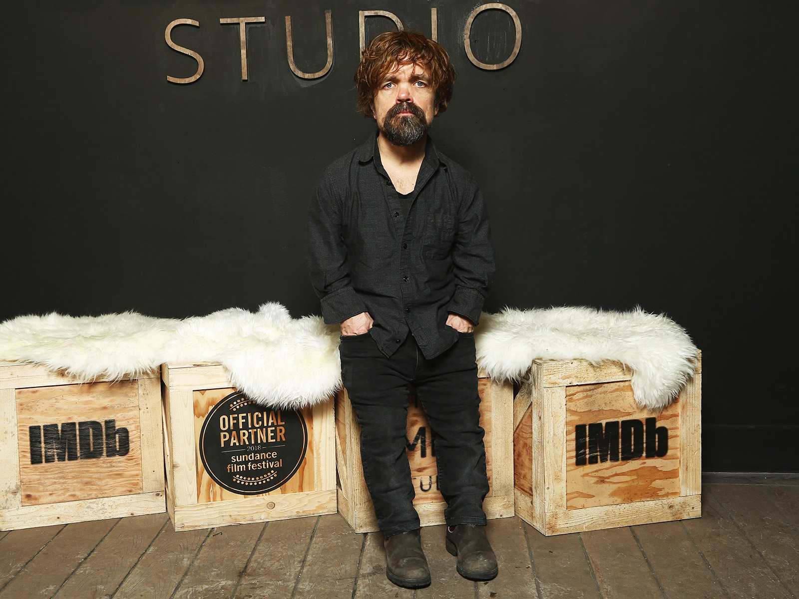 Peter Dinklage Drinks A Lot of Red Wine in His New Film, 'I Think We're Alone Now'