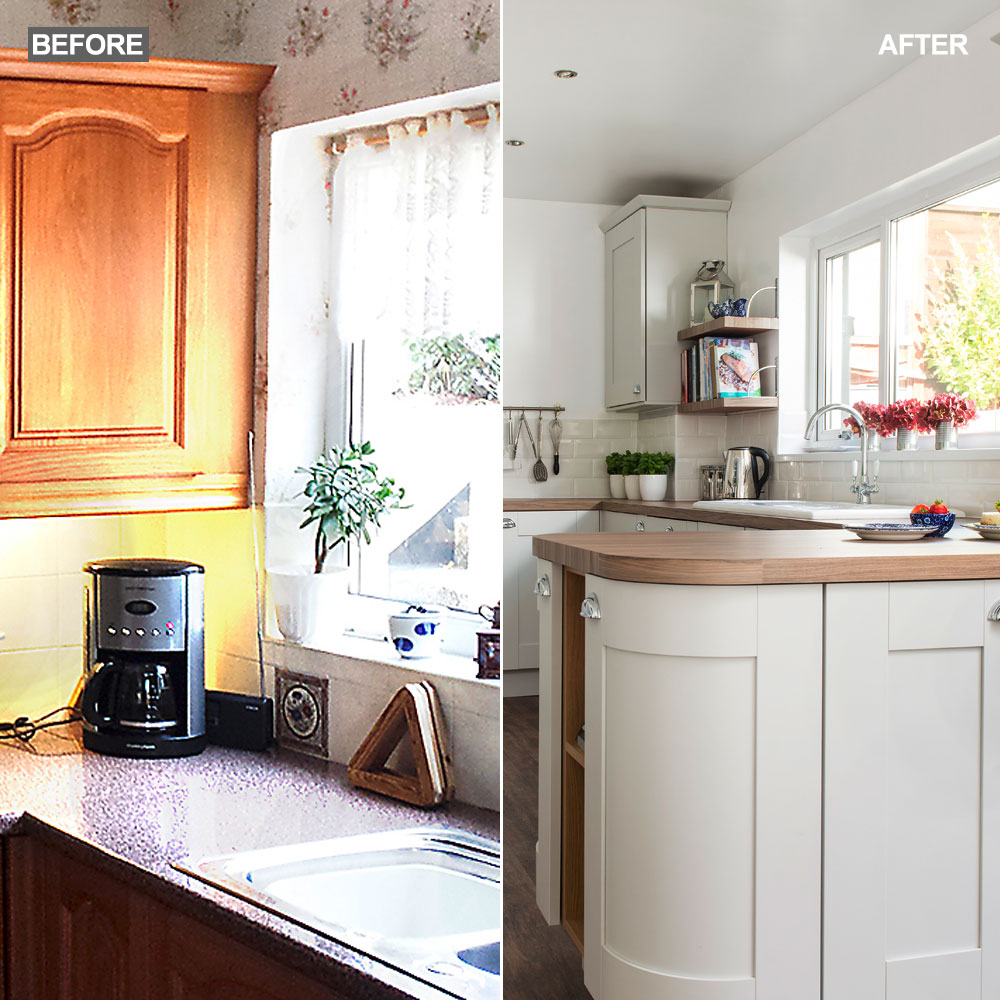 Before and After: Coastal-Inspired Kitchen Makeover