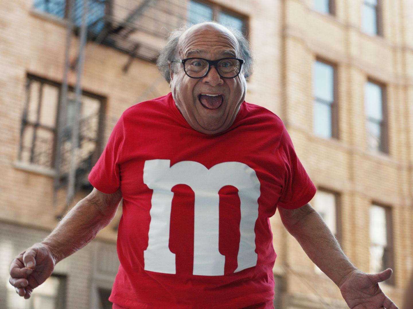 Danny DeVito Is a Human M&M in this Super Bowl Ad