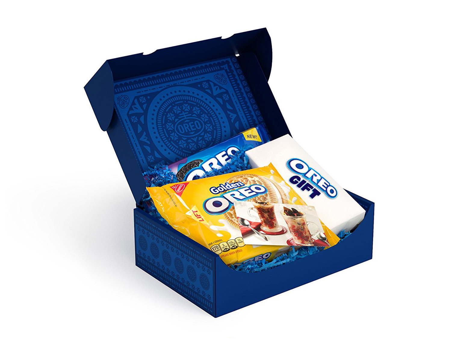 open box of oreo cookies in variety on