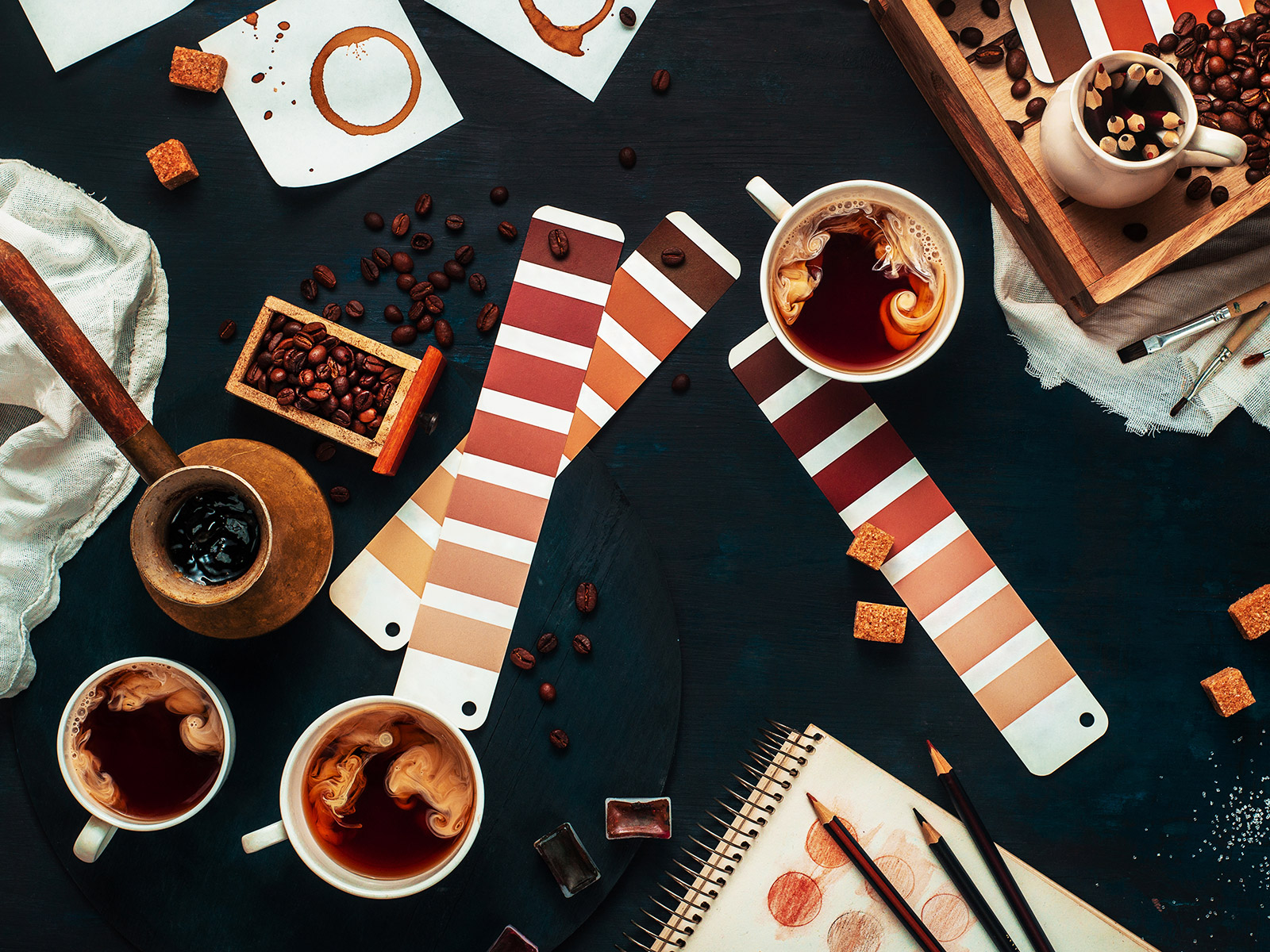 pantone color book and food to match it