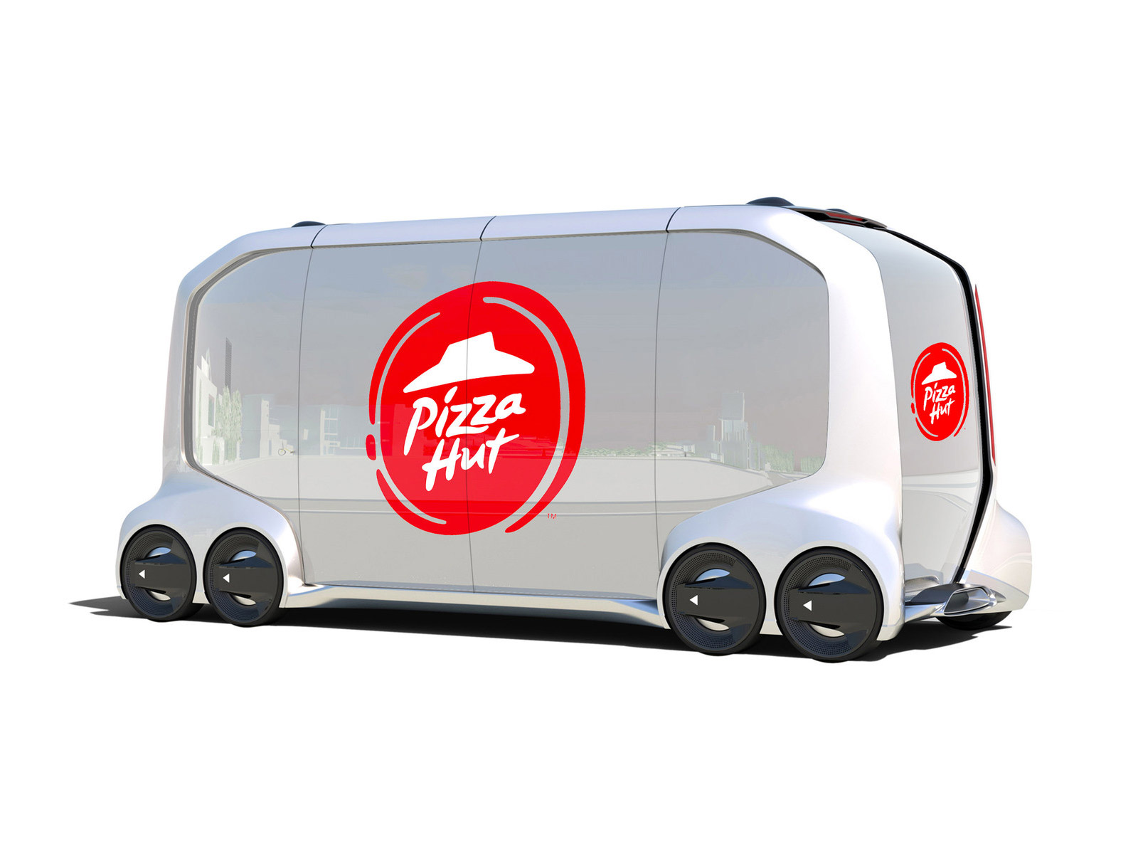 pizza hut driverless car