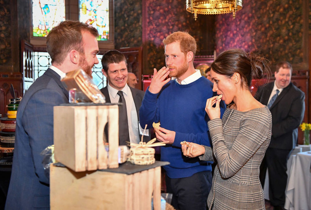 Prince Harry and Meghan Markle Tasted a Wedding Cake Today