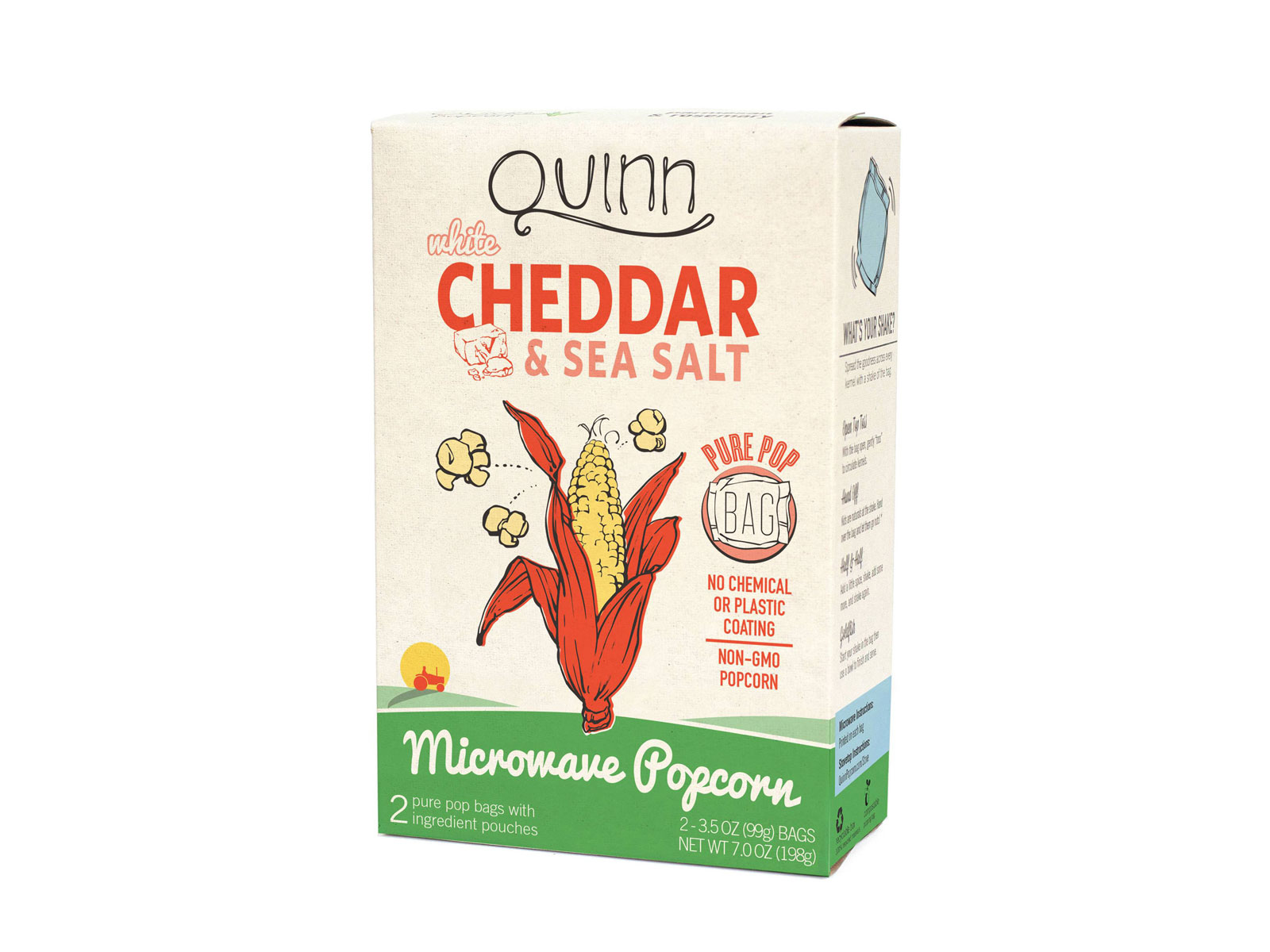 Quinn White Cheddar and Sea Salt Popcorn