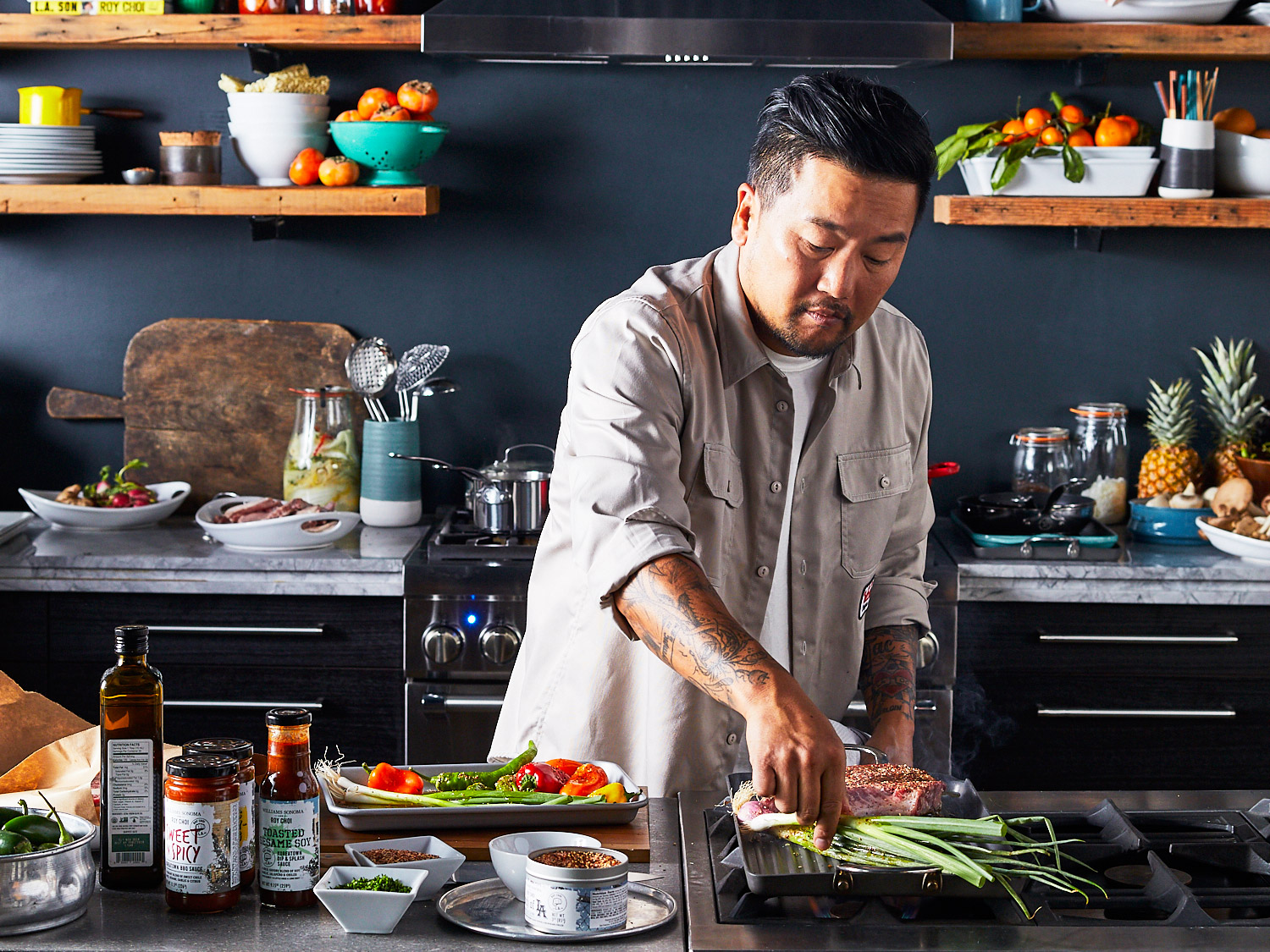 roy choi in the kitchen