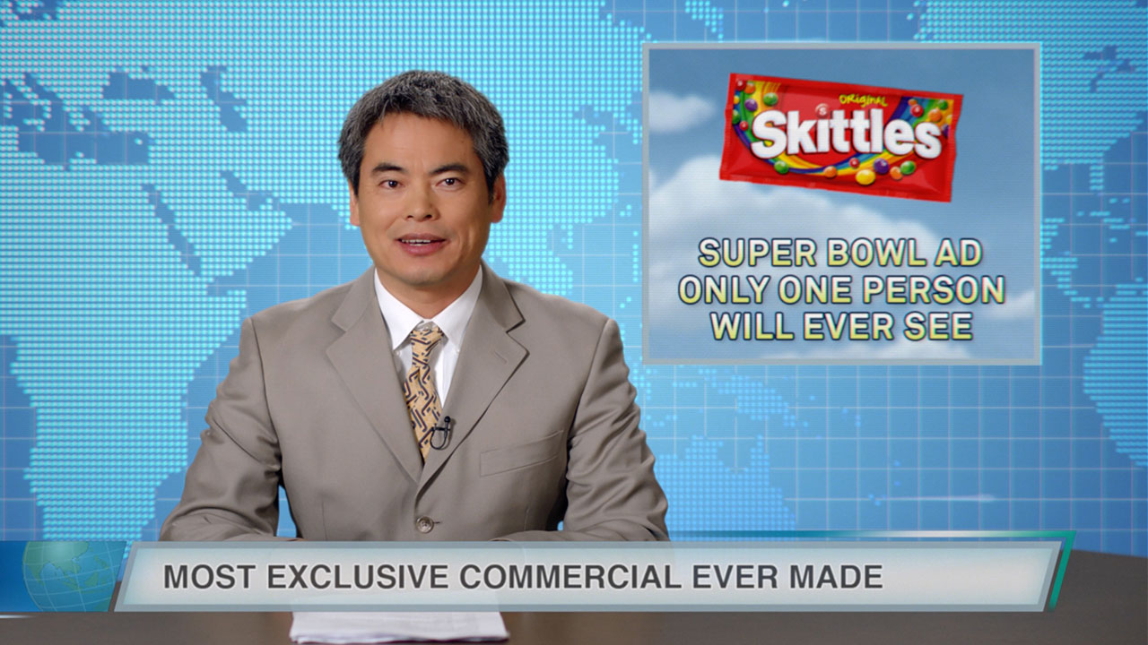 Skittles' Super Bowl Ad Will Be Seen by Only One Person