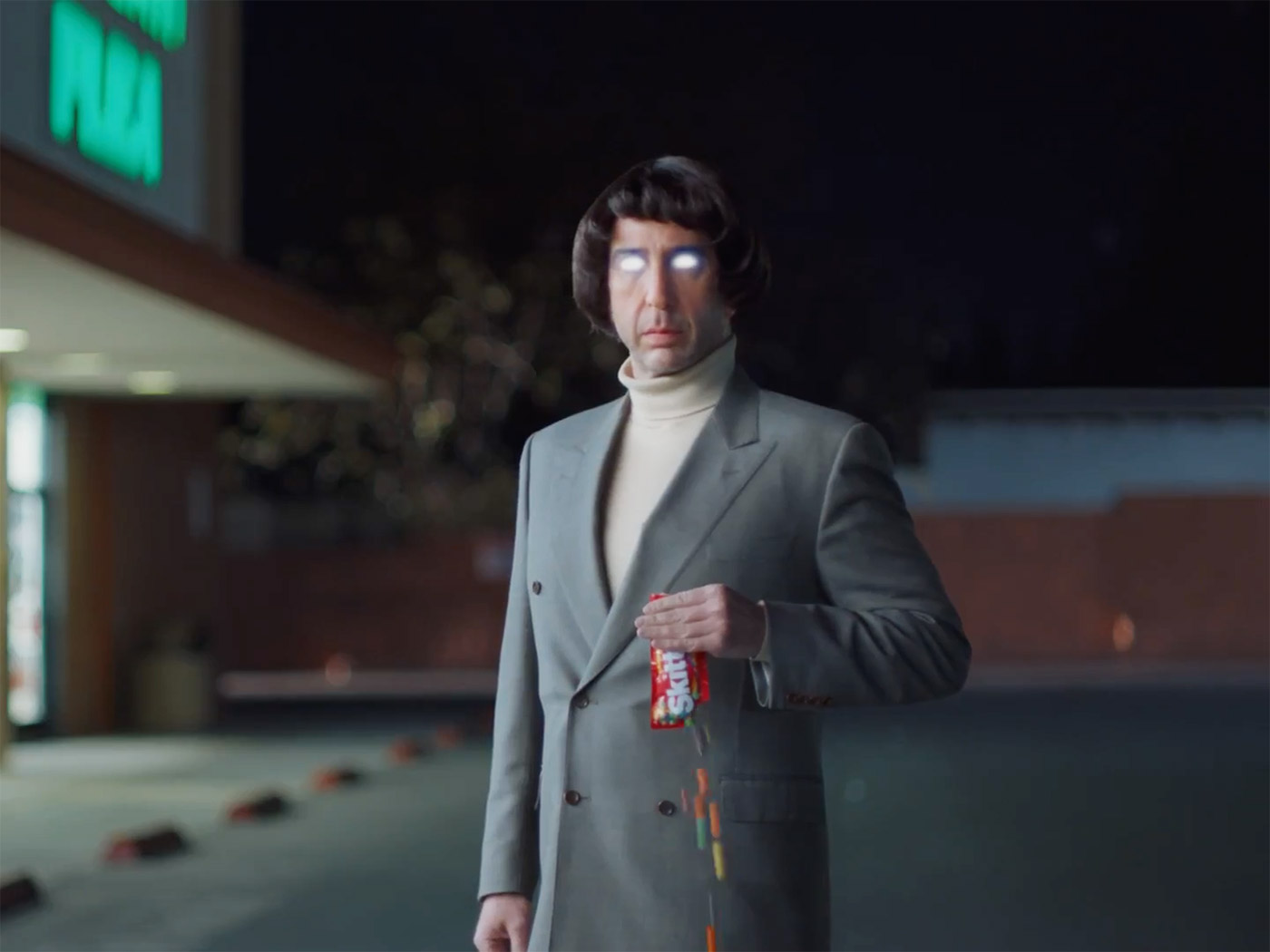 David Schwimmer Says Filming Skittles Super Bowl Ad Was 'Liberating'