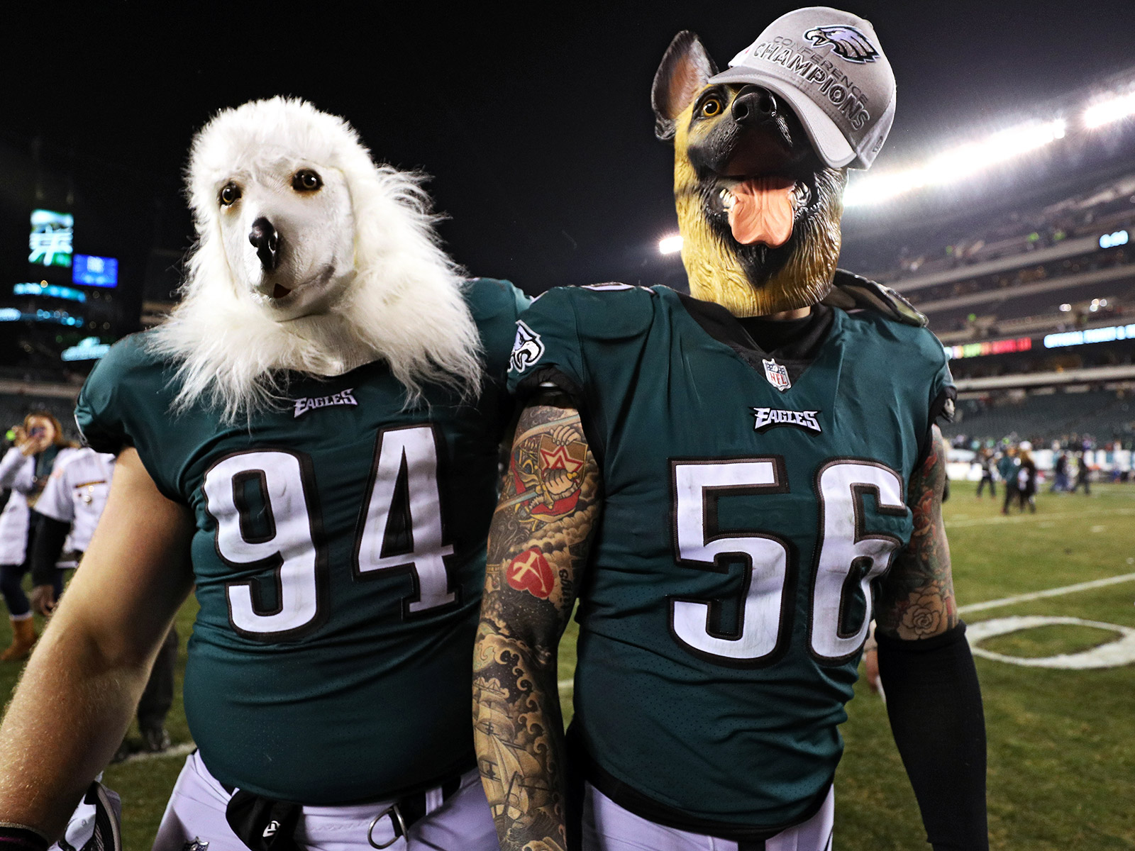 philadelphia eagles dog masks