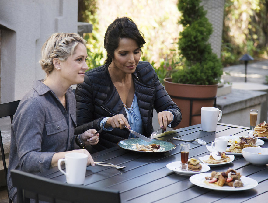 Brooke Williamson and Padma Lakshmi on Top Chef