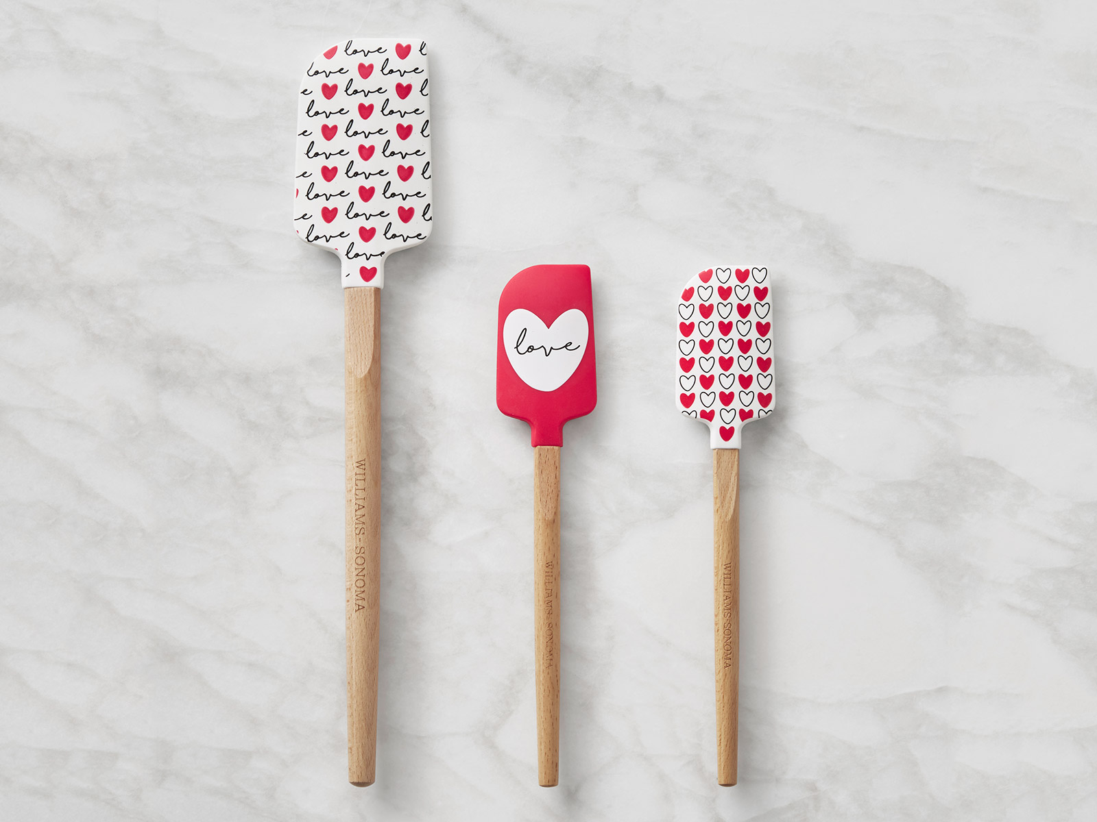 heart love spatulas