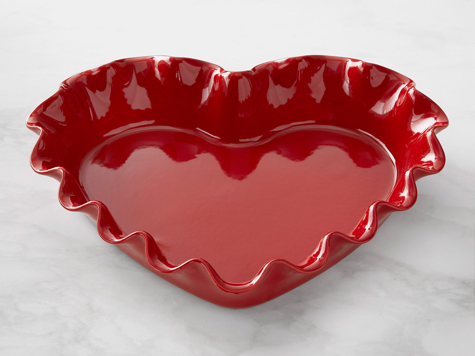 ruffle heart pie dish