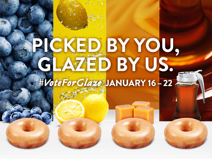 krispy kreme vote for glazed