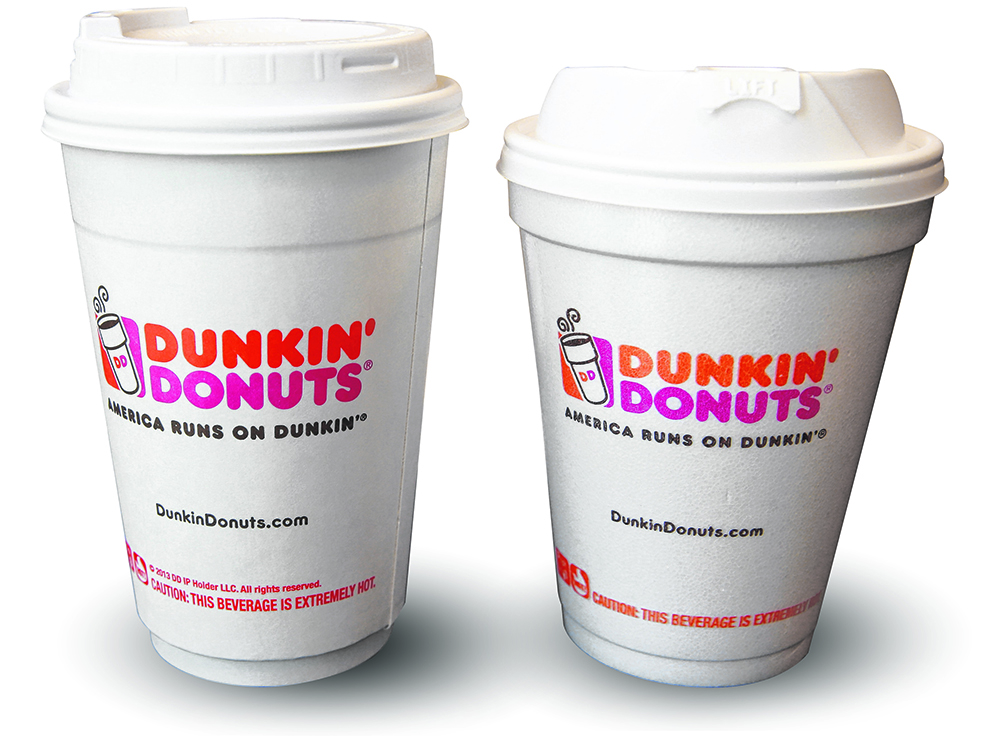 Dunkin Donuts replaces styrofoam cups