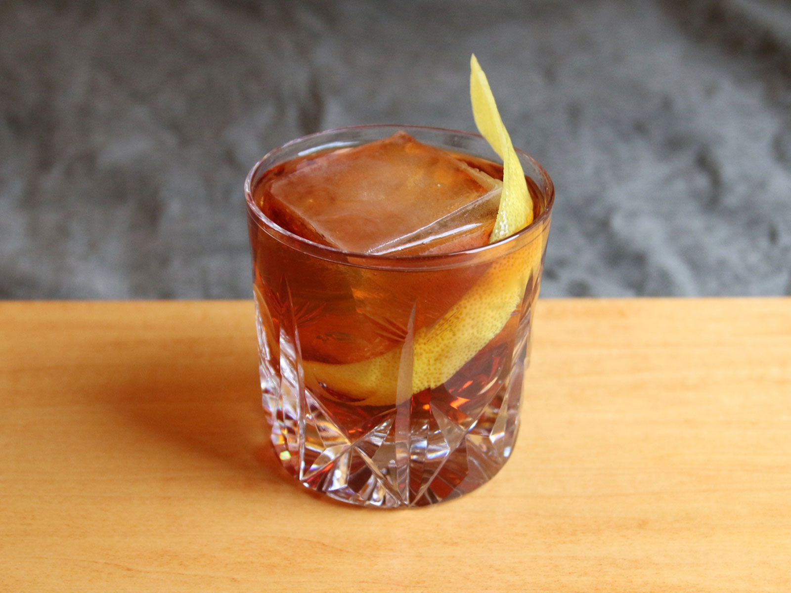 Amaro dell'etna cocktail with bourbon