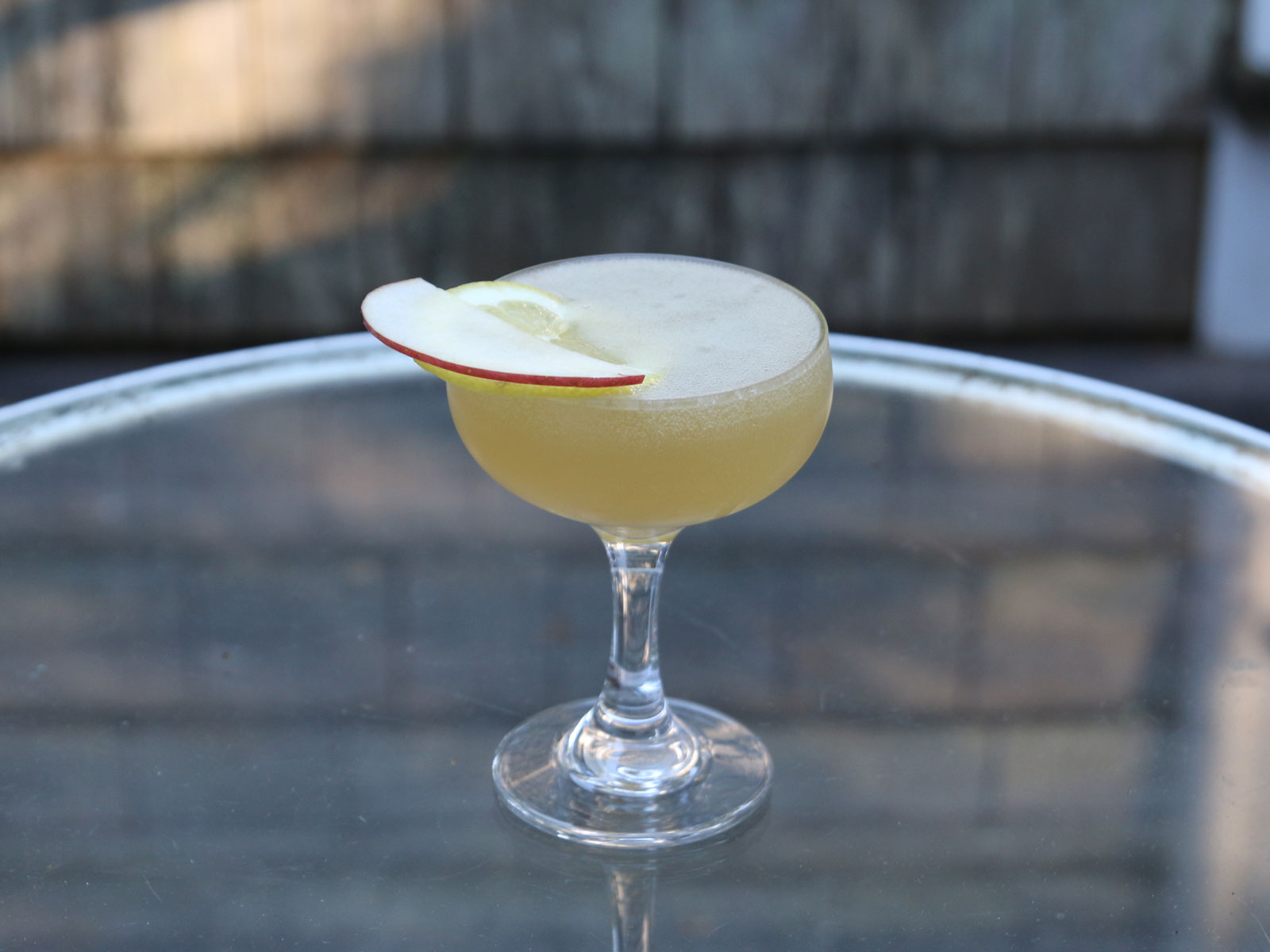 Applejack sparkling cocktail