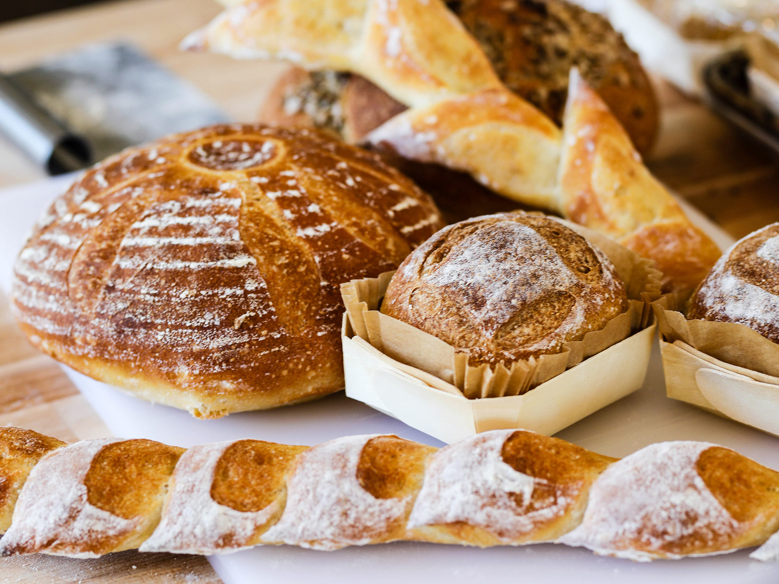 baked goods from flower and bread