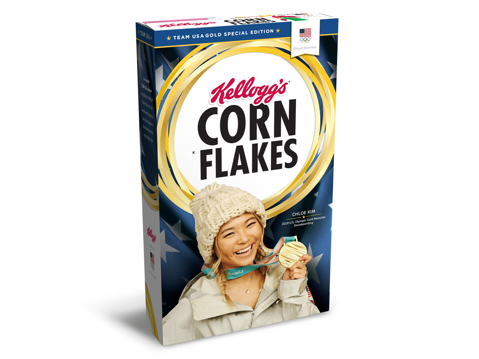 gold medal edition kelloggs box for olympics