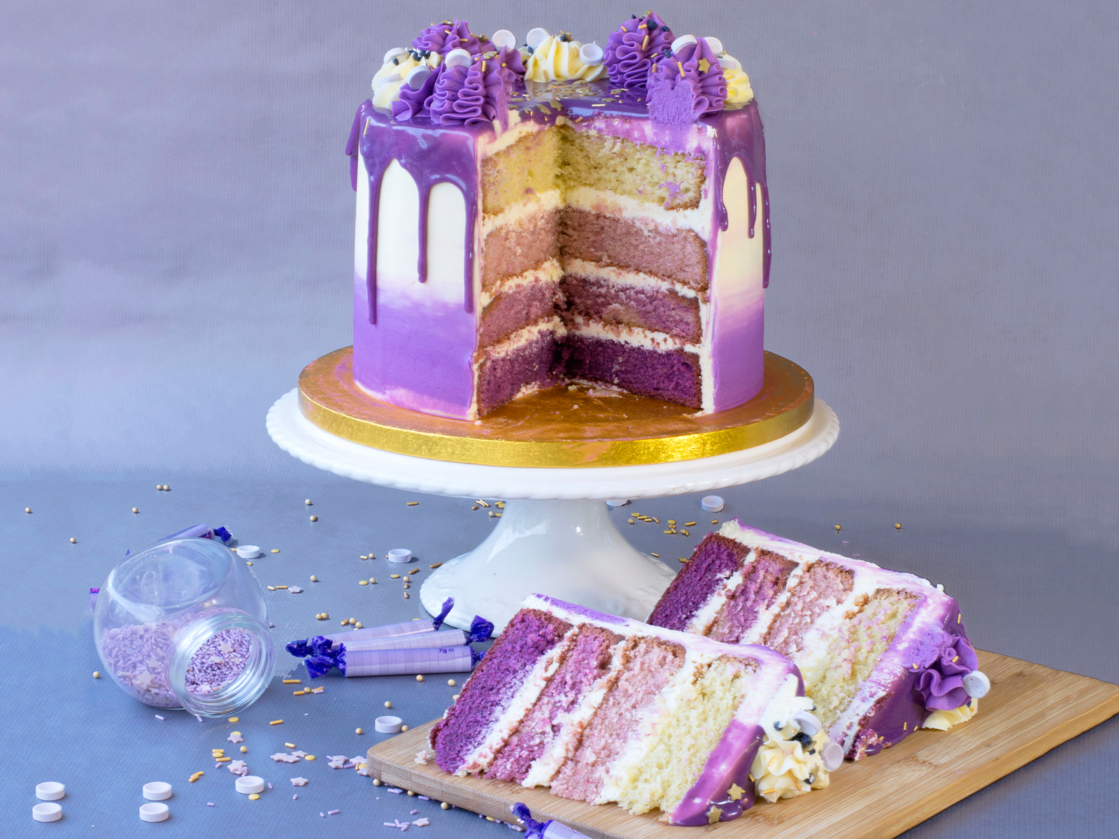 purple rain cake recipe from little red velvette cookbook belly kids
