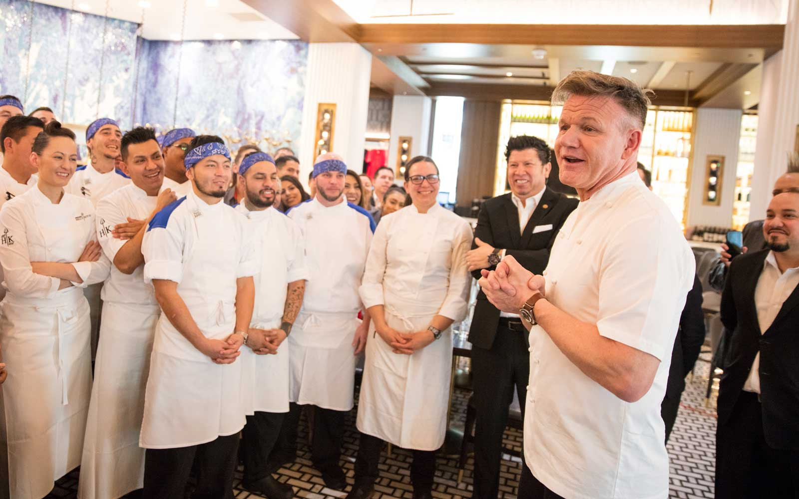 Gordon Ramsay's Las Vegas Hell's Kitchen with staff