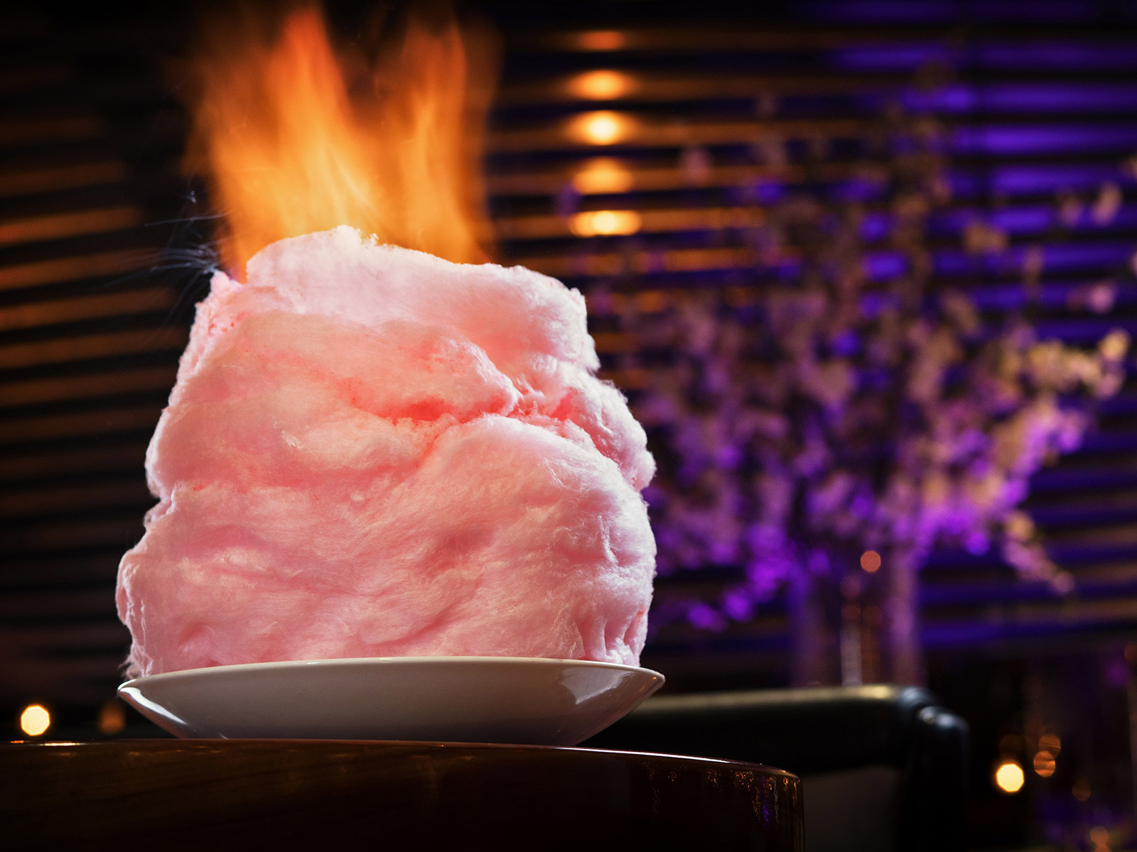 torch flaming cotton candy