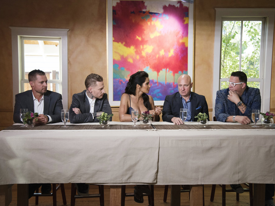 The Voltaggios and Top Chef judges.