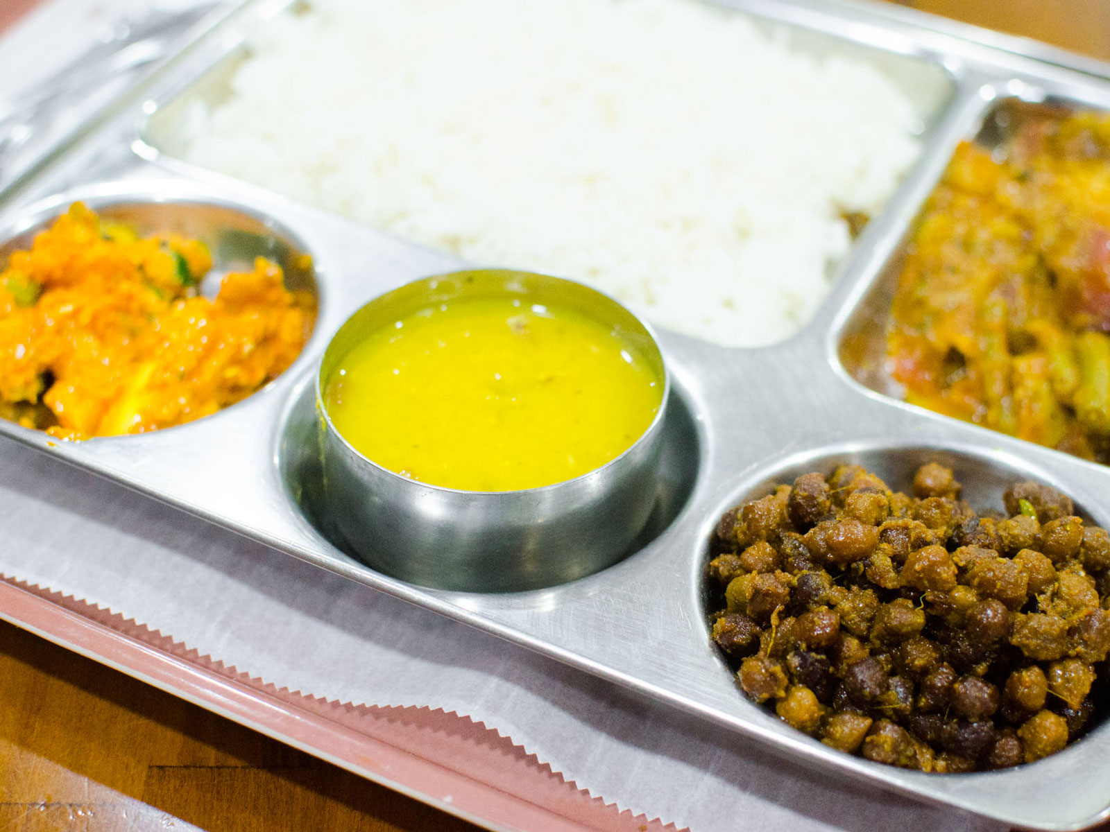 Vegetarian Thali from Merit Kebab
