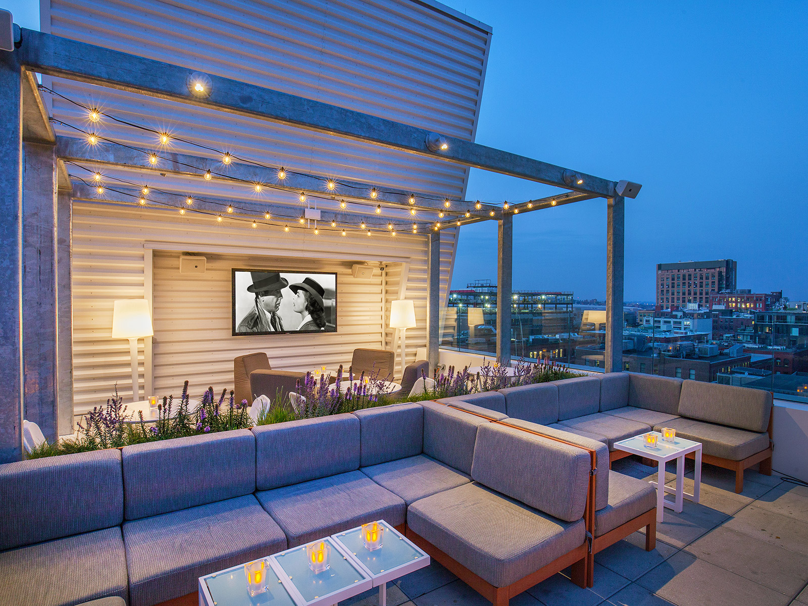 terrace space at sky lounge yotel
