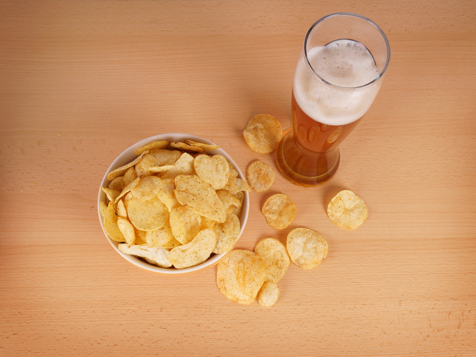 Beer and chips longevity