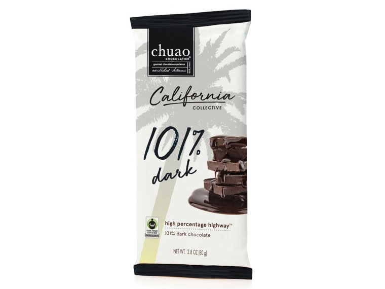 California Collective's 101% Dark Chocolate bar
