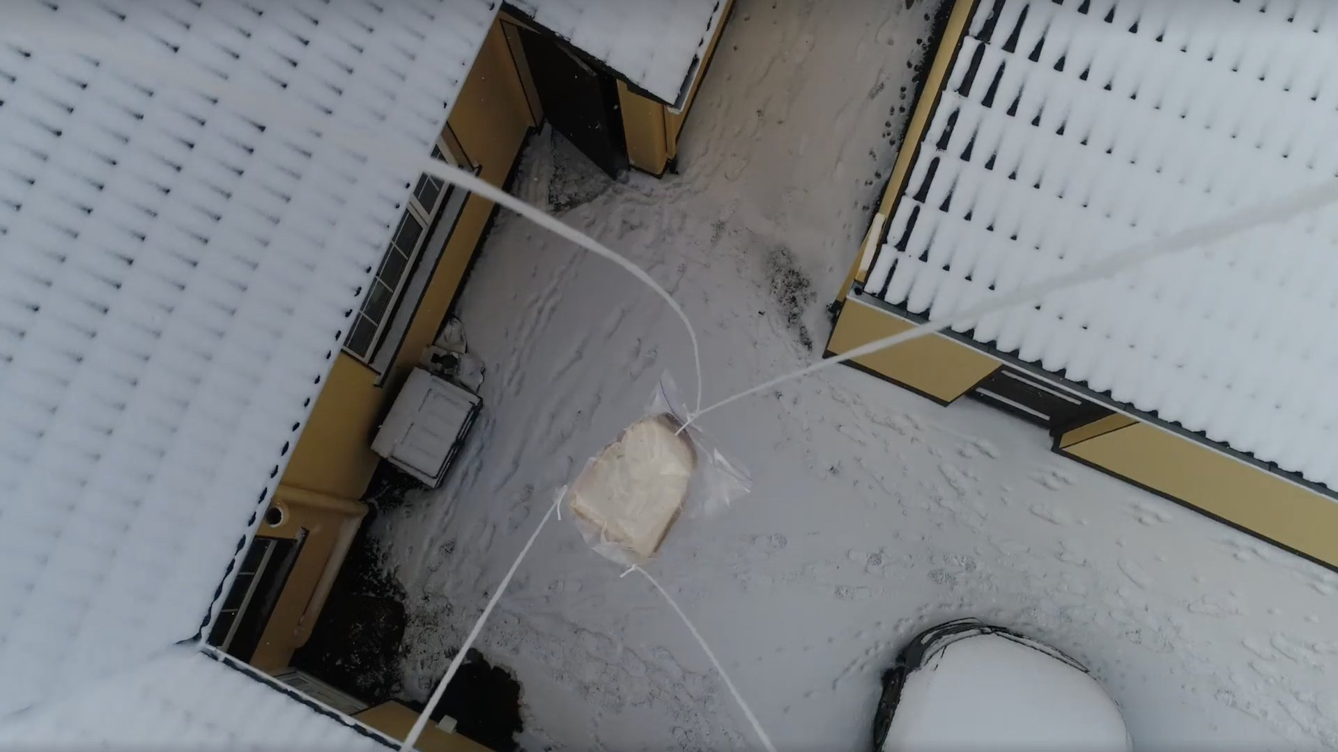 Drone Delivers Bread to Fellow Citizens Amidst Food Scarcity in Ireland