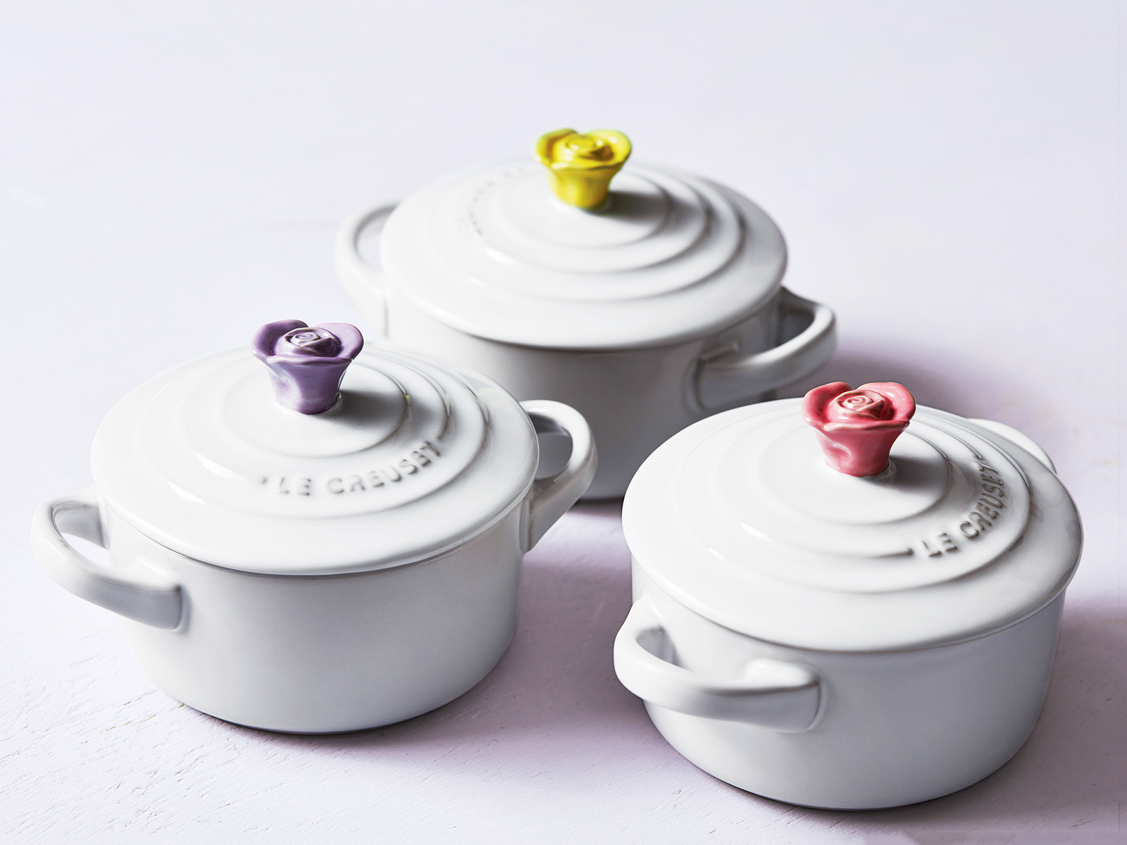 mini flower cocottes for le creuset