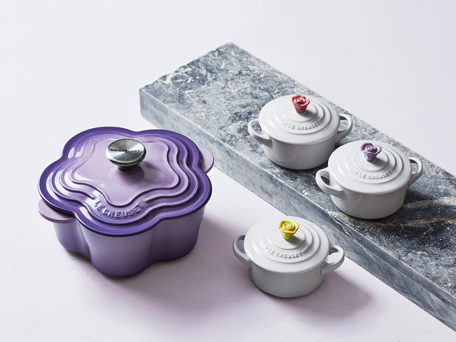 Provence flower cocottes from le creuset spring collection