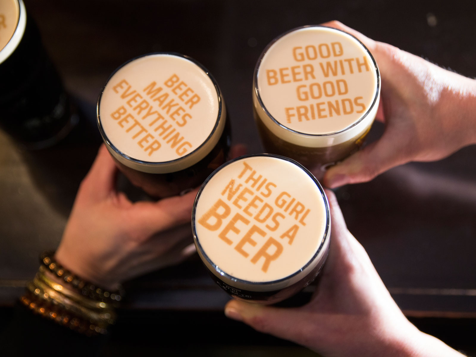 Step Aside, Latte Art. Beer Foam Art Is In
