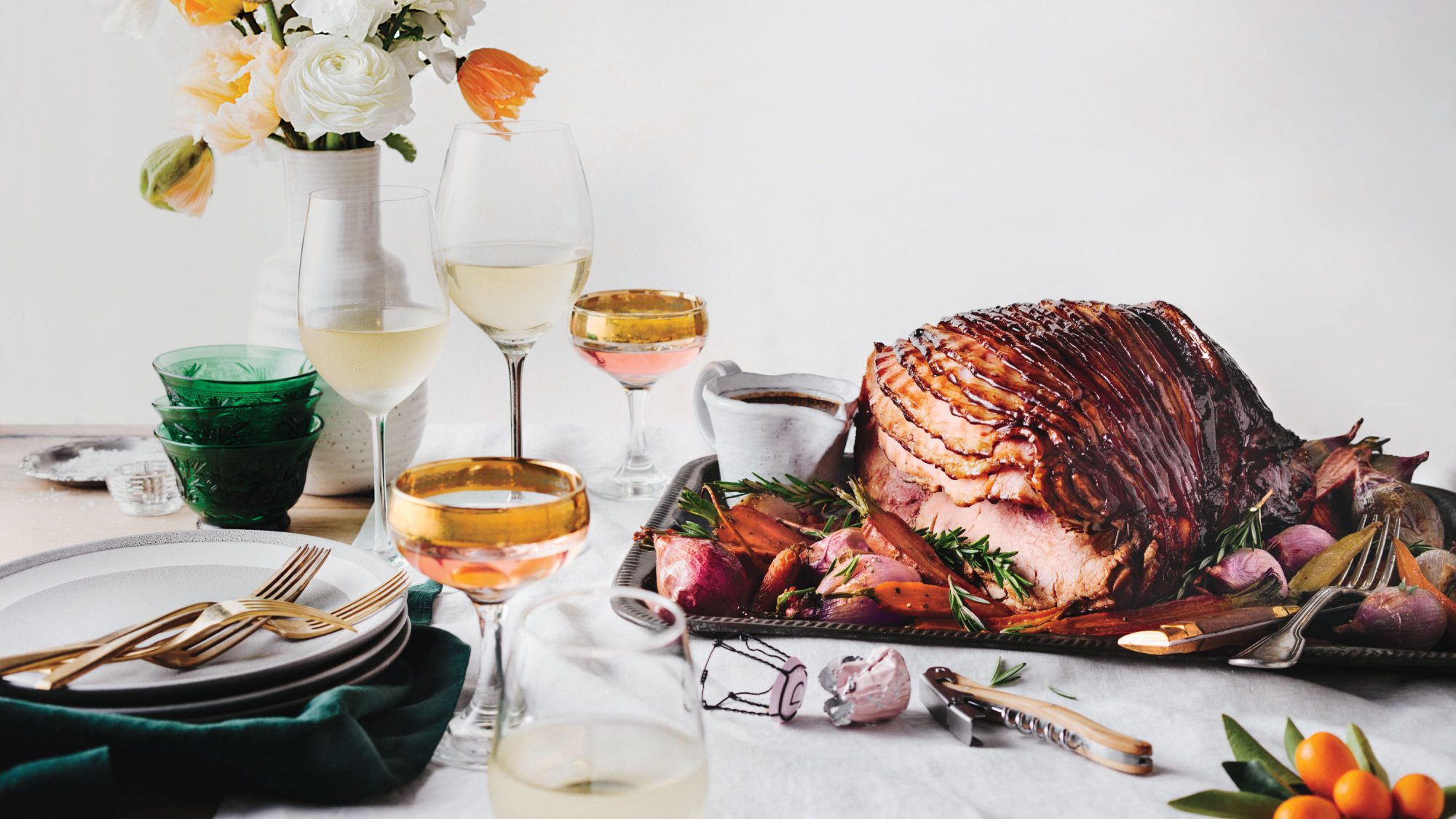 Saba-and-Dijon-Glazed Easter Ham