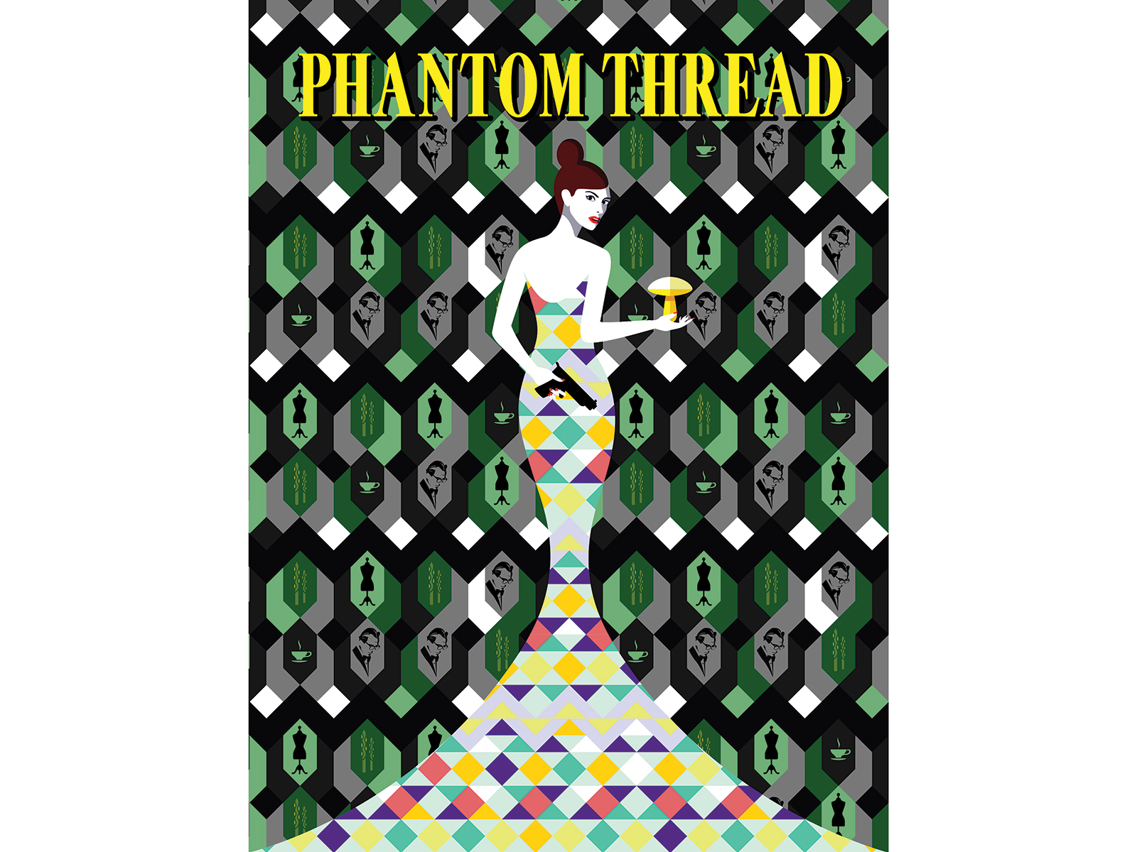 phantom thread movie poster by shutterstock designer