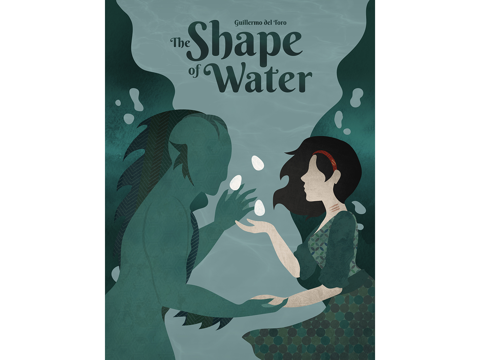 shape of water movie poster for oscars