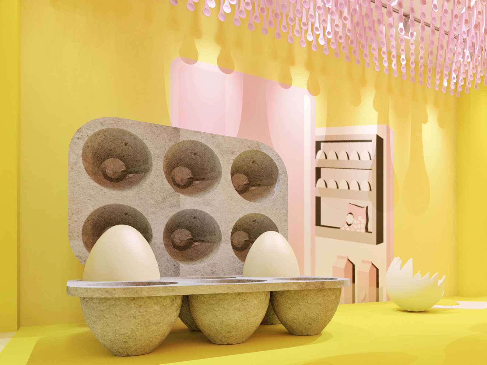 Look Inside This Pop-Up Devoted Entirely to Eggs