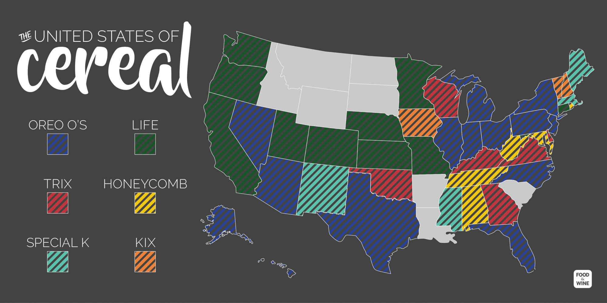 united states of cereal infographic of top six cereals dominating the united states