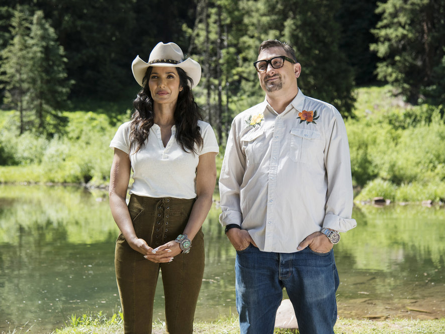 Padma Lakshmi and Chris Cosentino on Top Chef