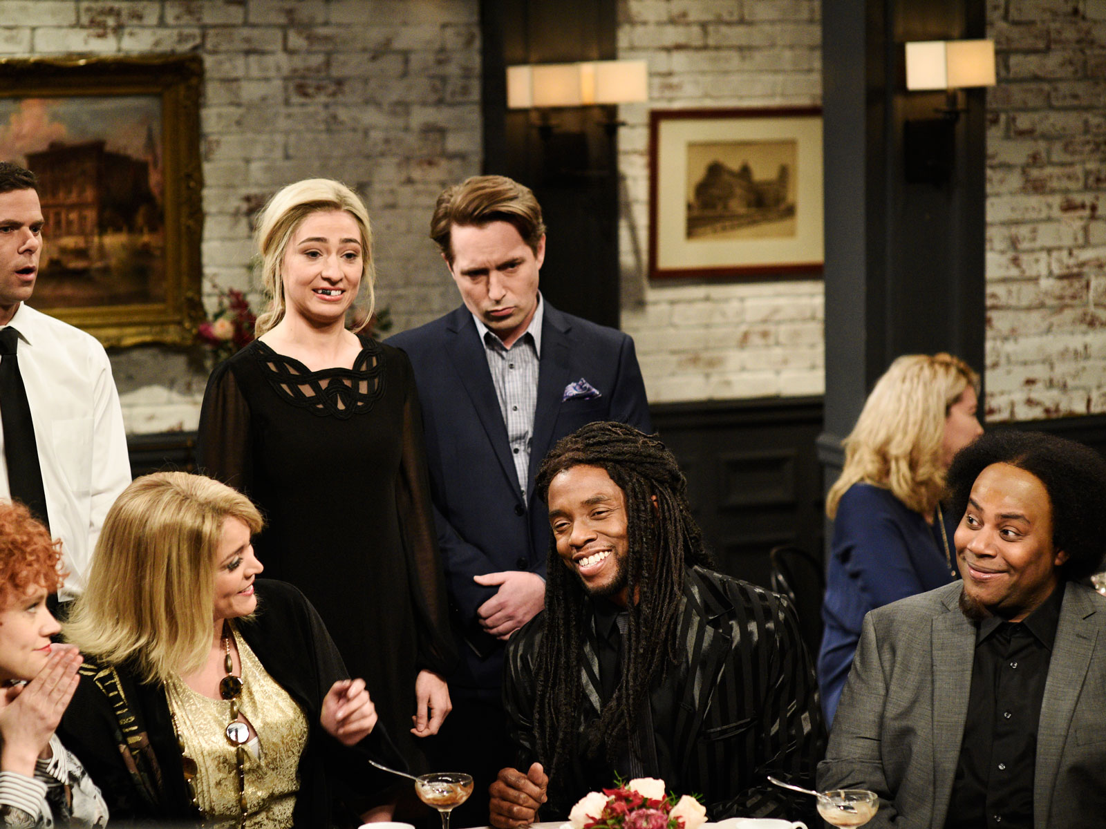 Chadwick Boseman Sings About Bad Restaurant Service on 'SNL'