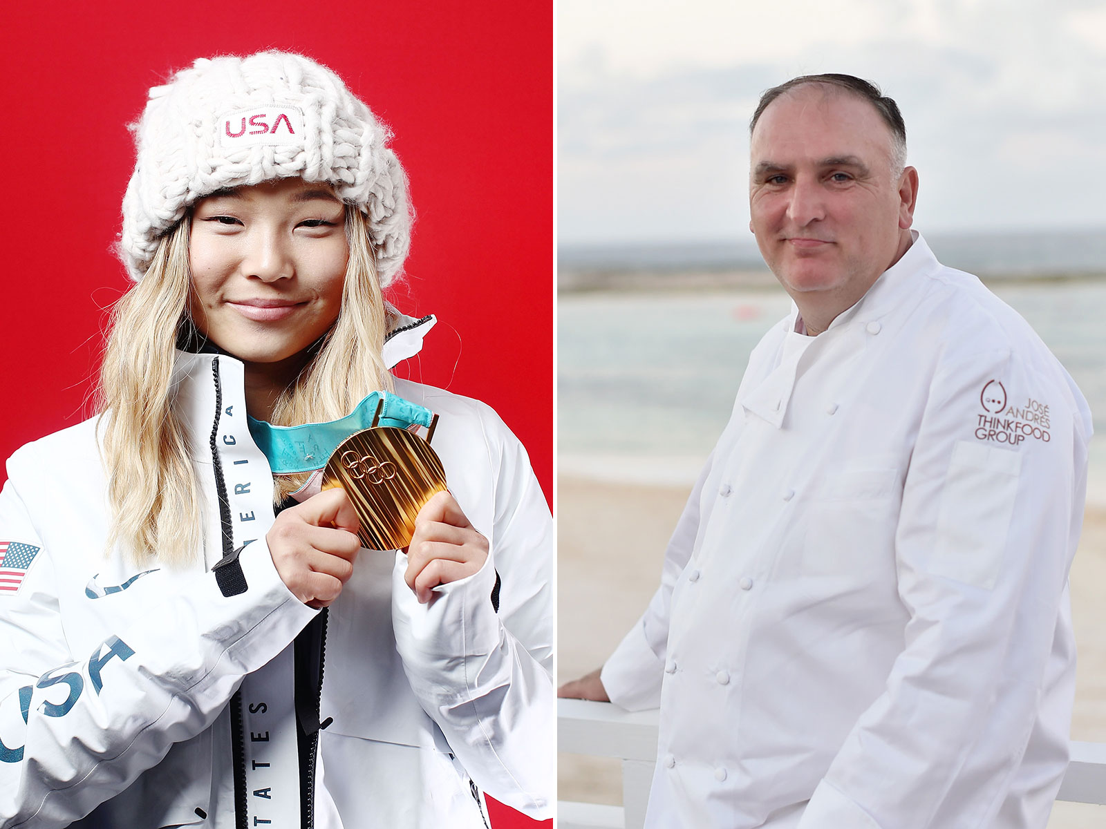 Chloe Kim and Jose Andres