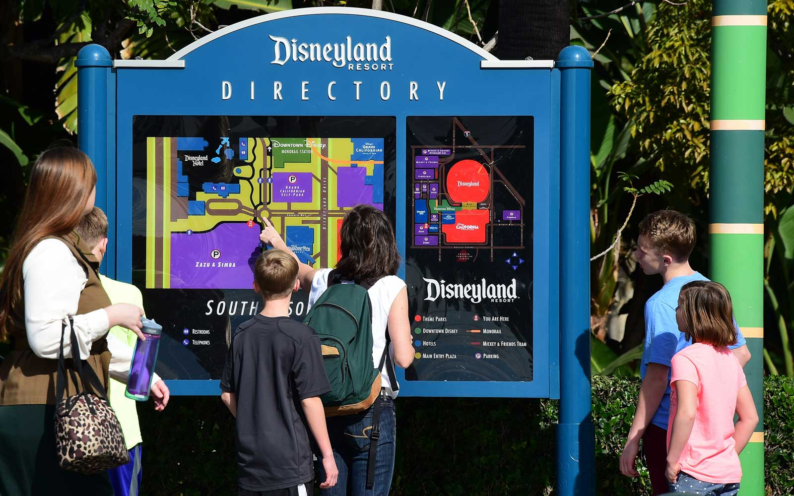 Disneyland California, directory map