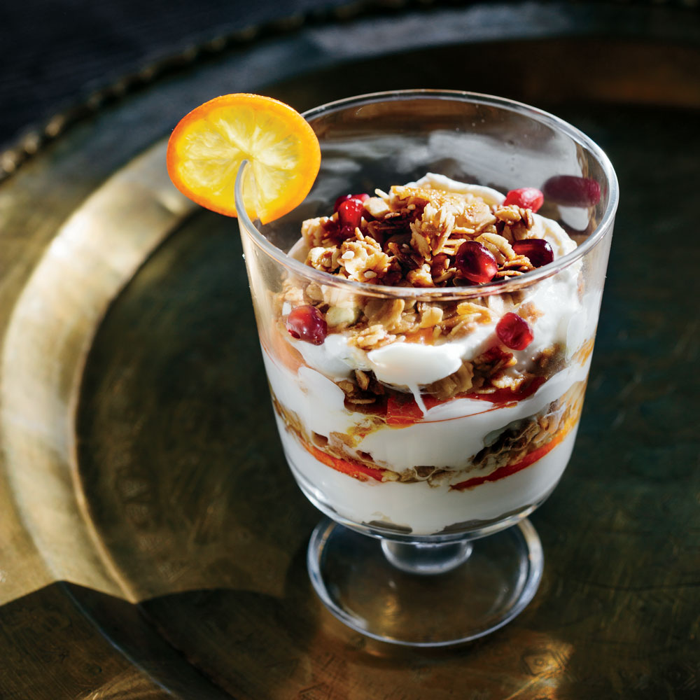 Labneh and Za'atar Granola Parfait