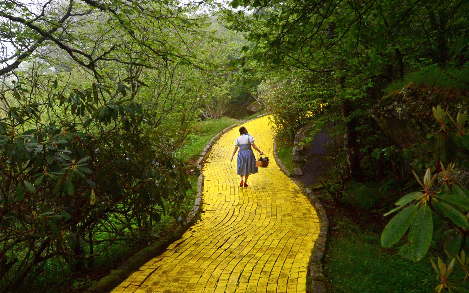 Yellow Brick Road at the Land of Oz on Beech Mountain, N.C