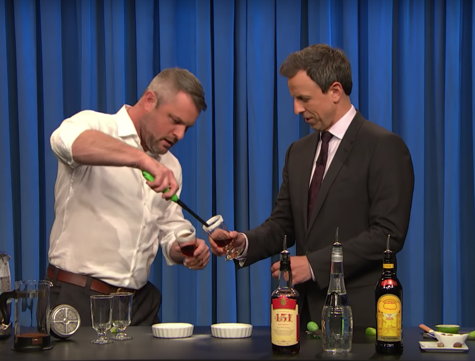 Watch Jeffrey Morgenthaler Mix Portland's 'Official Drink' With Seth Meyers