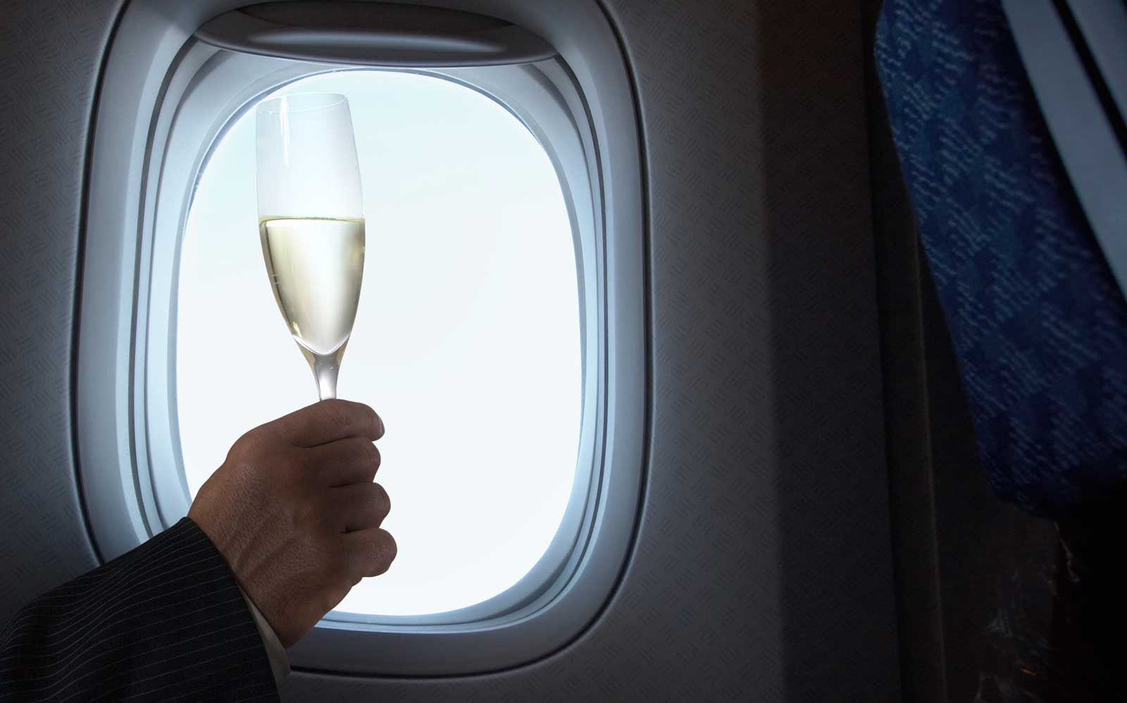 Champagne on an Airplane
