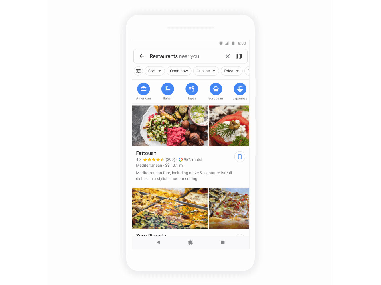 Google Maps Restaurants