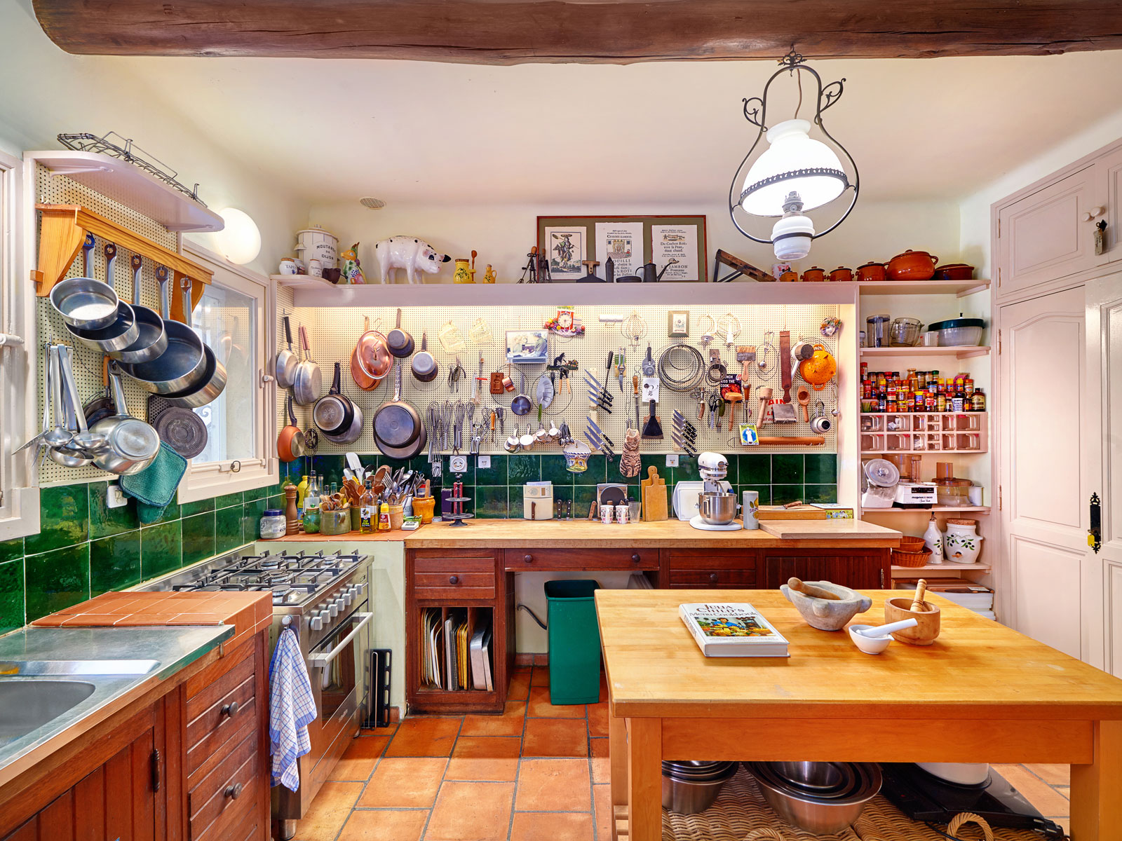 Inside the cooking school at julia child 39 s summer home for Julia child cooking school